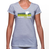womens v-neck rahui t-shirt English